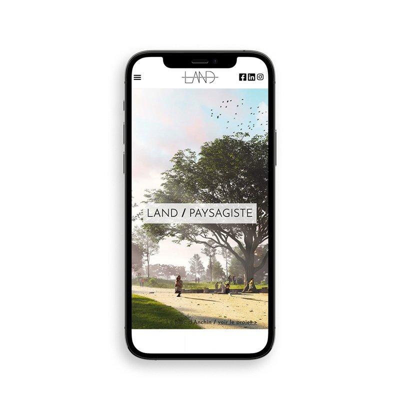 Agence Land - Site web smartphone